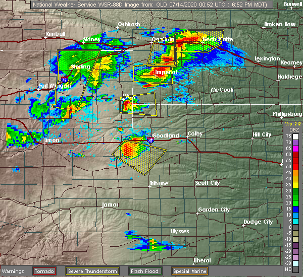Radar Image for Severe Thunderstorms near Laird, CO at 7/13/2020 7:55 PM CDT
