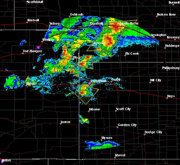 Radar Image for Severe Thunderstorms near Sharon Springs, KS at 7/13/2020 7:30 PM MDT