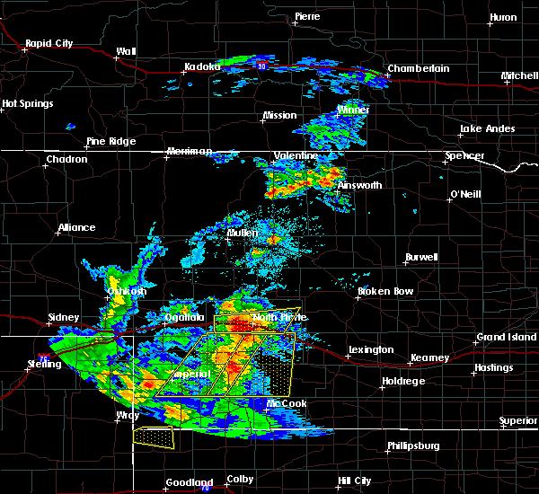 Radar Image for Severe Thunderstorms near Maxwell, NE at 7/13/2020 8:40 PM CDT