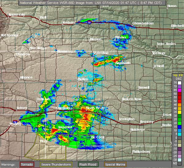 Radar Image for Severe Thunderstorms near Hayes Center, NE at 7/13/2020 8:51 PM CDT