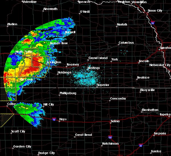 Radar Image for Severe Thunderstorms near Eustis, NE at 7/13/2020 9:48 PM CDT