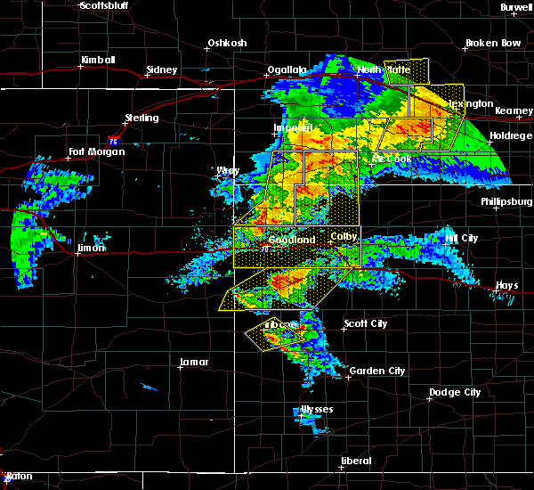 Radar Image for Severe Thunderstorms near Wallace, KS at 7/13/2020 8:53 PM MDT