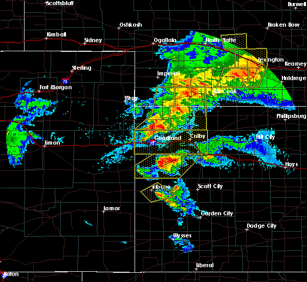 Radar Image for Severe Thunderstorms near Wallace, KS at 7/13/2020 9:03 PM MDT