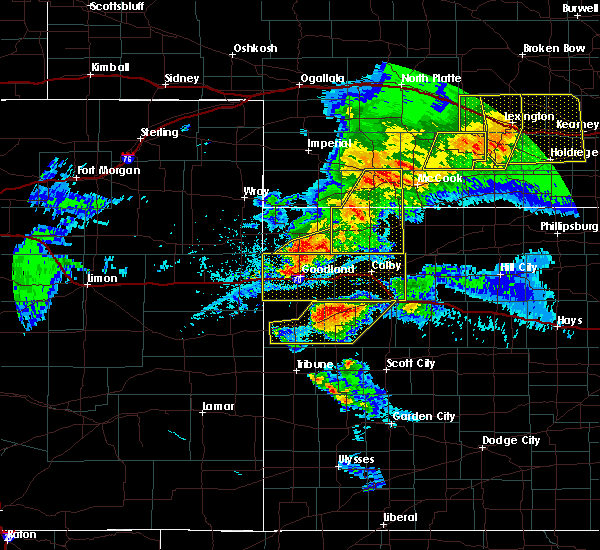 Radar Image for Severe Thunderstorms near Wallace, KS at 7/13/2020 10:09 PM CDT