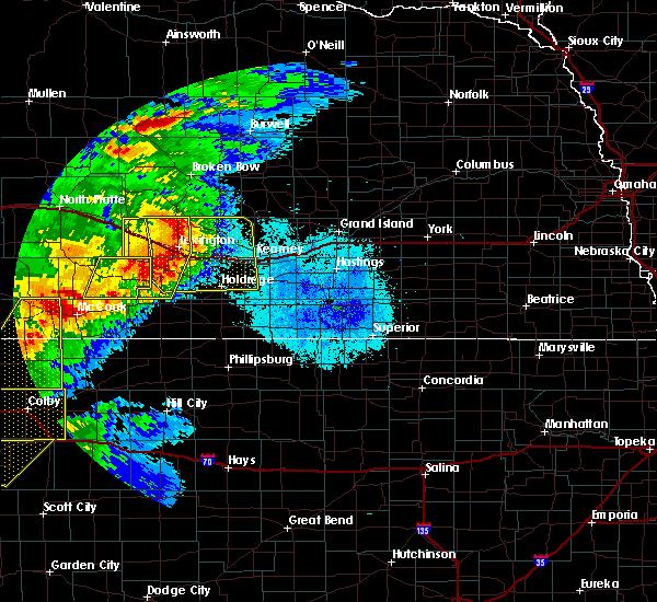 Radar Image for Severe Thunderstorms near Eustis, NE at 7/13/2020 10:14 PM CDT
