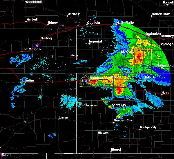 Radar Image for Severe Thunderstorms near Park, KS at 7/13/2020 11:23 PM CDT