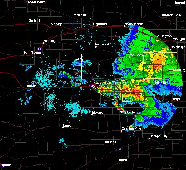 Radar Image for Severe Thunderstorms near Winona, KS at 7/13/2020 11:46 PM CDT