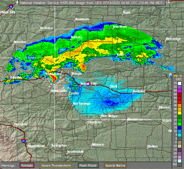 Radar Image for Severe Thunderstorms near Blackhawk, SD at 7/13/2020 10:52 PM MDT
