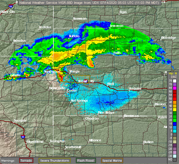Radar Image for Severe Thunderstorms near Blackhawk, SD at 7/13/2020 11:06 PM MDT