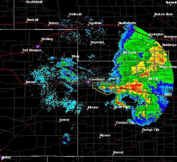 Radar Image for Severe Thunderstorms near Winona, KS at 7/14/2020 12:09 AM CDT