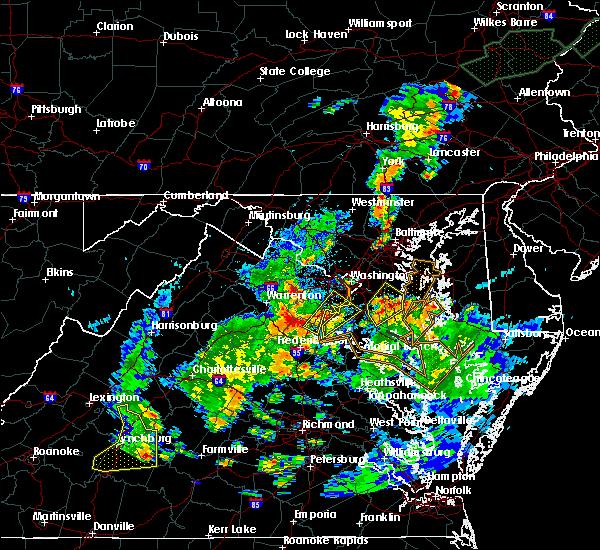 Radar Image for Severe Thunderstorms near Owings, MD at 7/1/2015 12:34 AM EDT