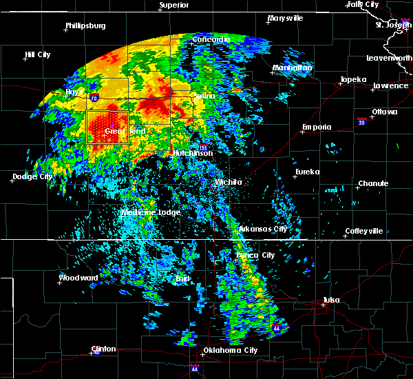 Radar Image for Severe Thunderstorms near Raymond, KS at 7/14/2020 3:25 AM CDT