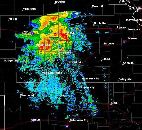 Radar Image for Severe Thunderstorms near Raymond, KS at 7/14/2020 3:49 AM CDT