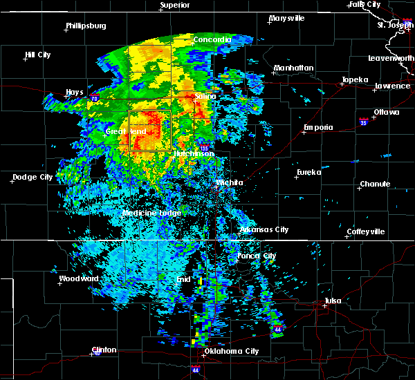 Radar Image for Severe Thunderstorms near South Hutchinson, KS at 7/14/2020 4:03 AM CDT