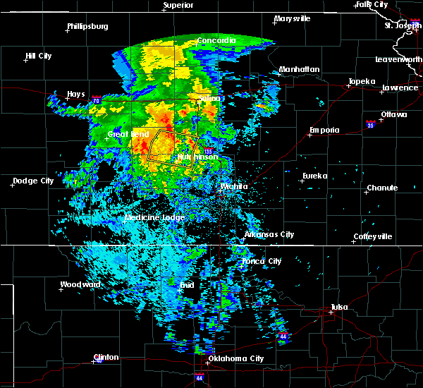 Radar Image for Severe Thunderstorms near South Hutchinson, KS at 7/14/2020 4:17 AM CDT