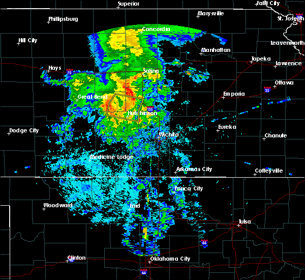 Radar Image for Severe Thunderstorms near South Hutchinson, KS at 7/14/2020 4:26 AM CDT