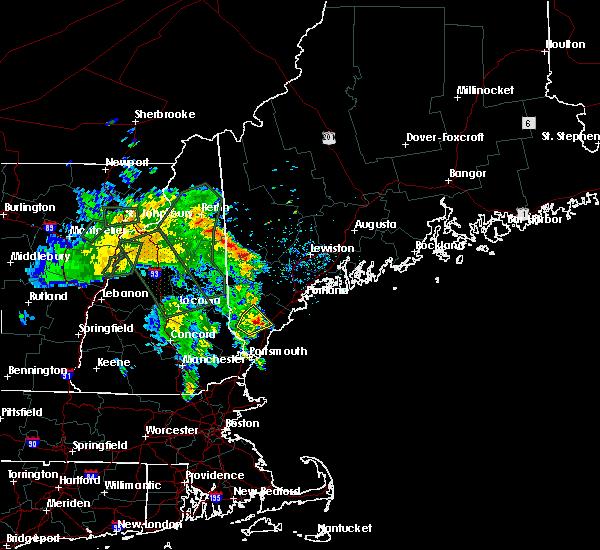 Radar Image for Severe Thunderstorms near Sanford, ME at 7/14/2020 9:15 AM EDT