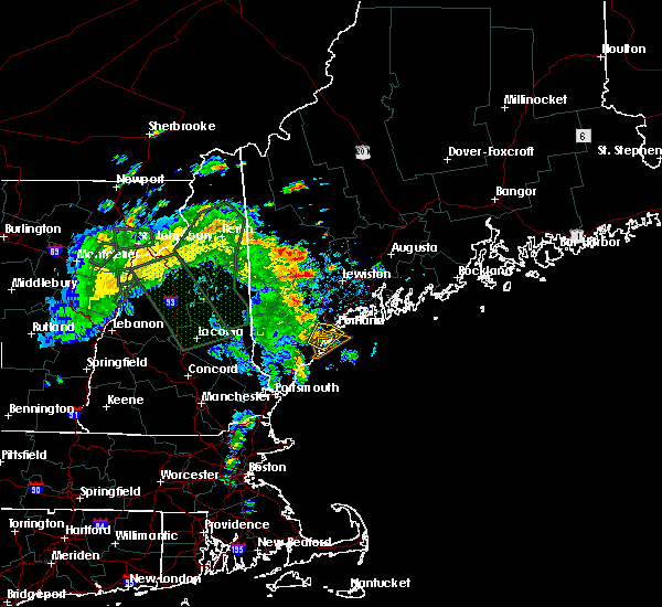 Radar Image for Severe Thunderstorms near Portland, ME at 7/14/2020 10:29 AM EDT
