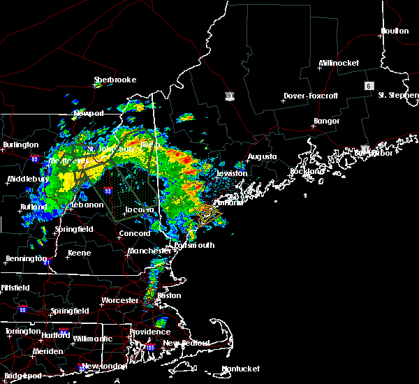 Radar Image for Severe Thunderstorms near Portland, ME at 7/14/2020 10:42 AM EDT