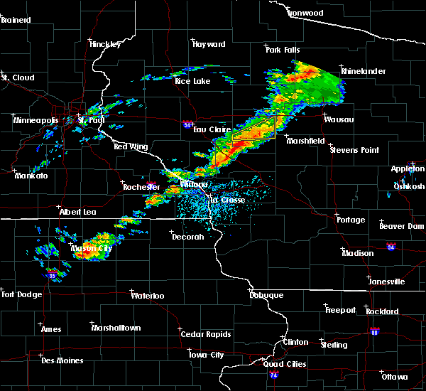 Radar Image for Severe Thunderstorms near Greenwood, WI at 7/14/2020 5:07 PM CDT