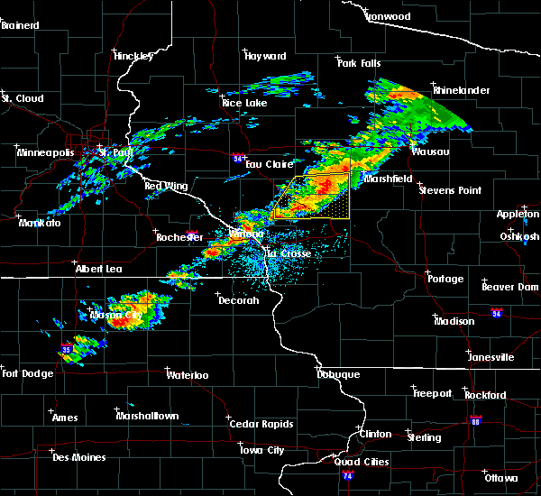 Radar Image for Severe Thunderstorms near Hatfield, WI at 7/14/2020 5:36 PM CDT