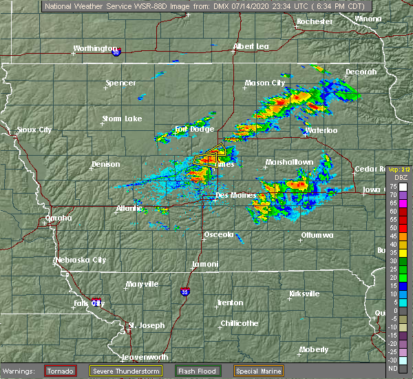 Radar Image for Severe Thunderstorms near Jewell Junction, IA at 7/14/2020 6:36 PM CDT