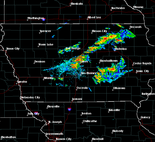 Radar Image for Severe Thunderstorms near Ames, IA at 7/14/2020 6:39 PM CDT