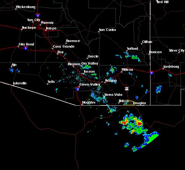 Radar Image for Severe Thunderstorms near Douglas, AZ at 7/14/2020 5:26 PM MST