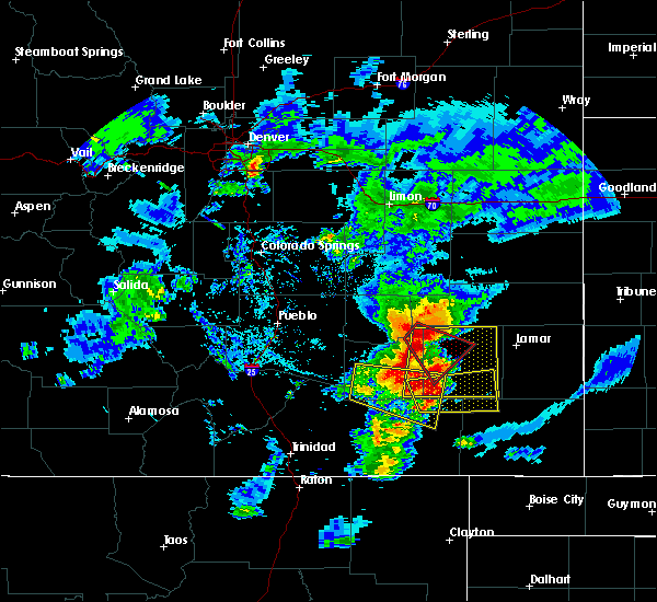 Radar Image for Severe Thunderstorms near North La Junta, CO at 7/14/2020 6:59 PM MDT
