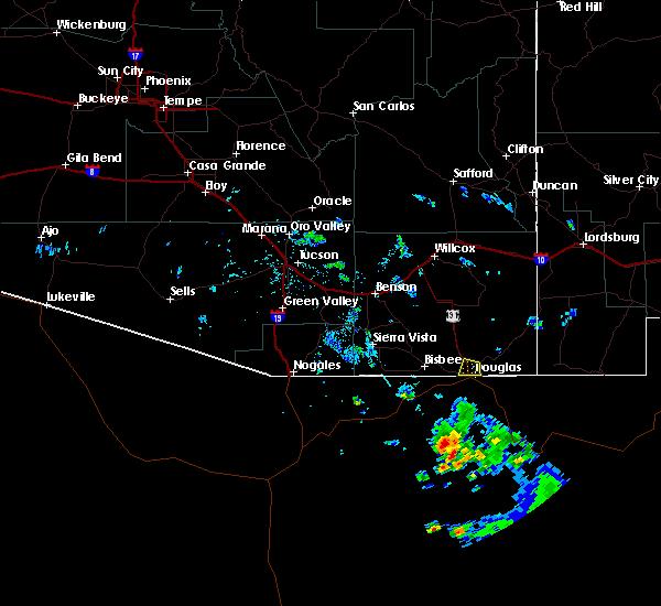 Radar Image for Severe Thunderstorms near Douglas, AZ at 7/14/2020 6:02 PM MST