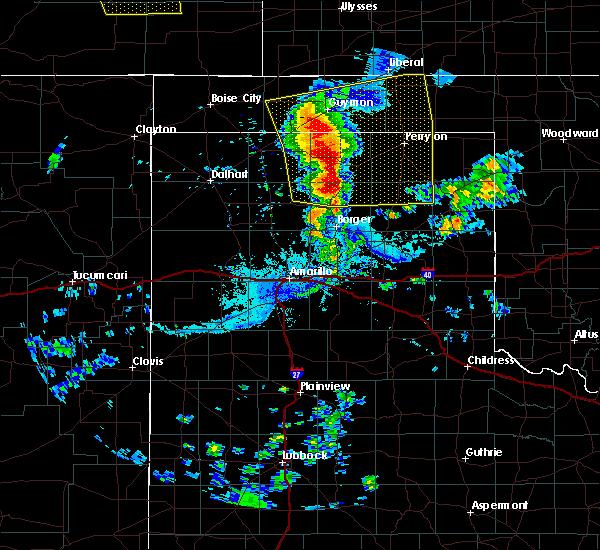 Radar Image for Severe Thunderstorms near Hooker, OK at 7/14/2020 8:27 PM CDT