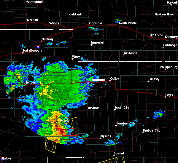 Radar Image for Severe Thunderstorms near Lamar, CO at 7/14/2020 8:11 PM MDT