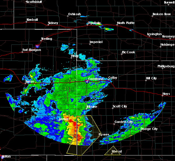 Radar Image for Severe Thunderstorms near Holly, CO at 7/14/2020 9:12 PM MDT