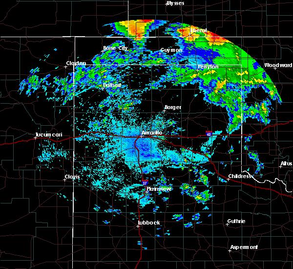 Radar Image for Severe Thunderstorms near Hooker, OK at 7/14/2020 10:40 PM CDT