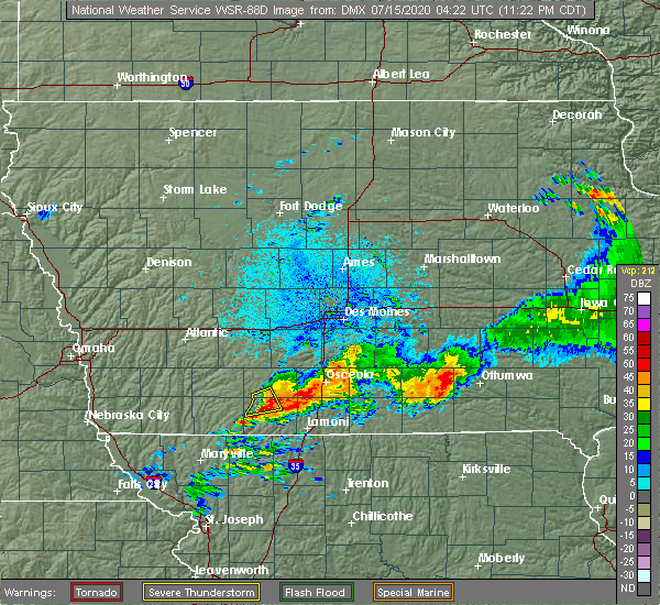 Radar Image for Severe Thunderstorms near Shannon City, IA at 7/14/2020 11:27 PM CDT