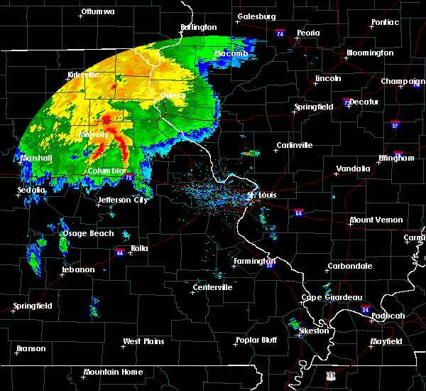Radar Image for Severe Thunderstorms near Rush Hill, MO at 7/15/2020 9:02 AM CDT