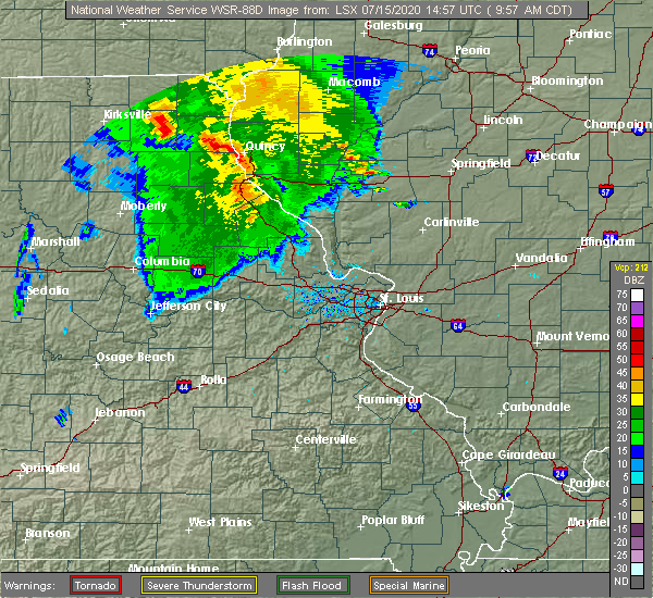 Radar Image for Severe Thunderstorms near Payson, IL at 7/15/2020 9:59 AM CDT