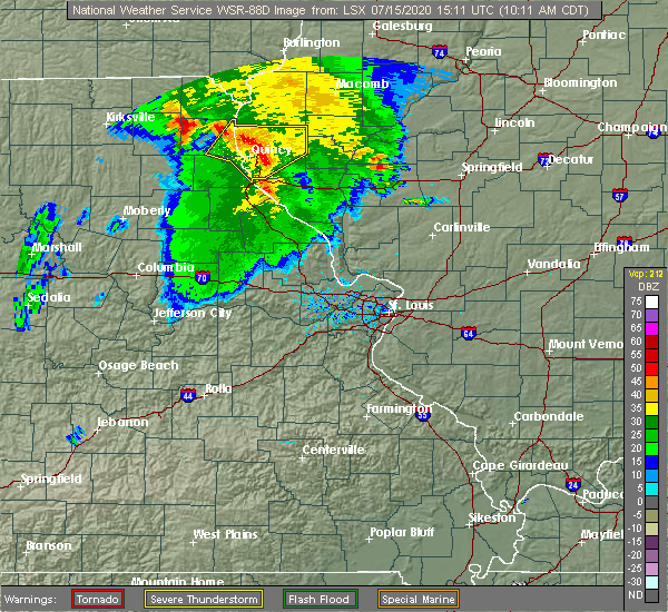 Radar Image for Severe Thunderstorms near Payson, IL at 7/15/2020 10:15 AM CDT