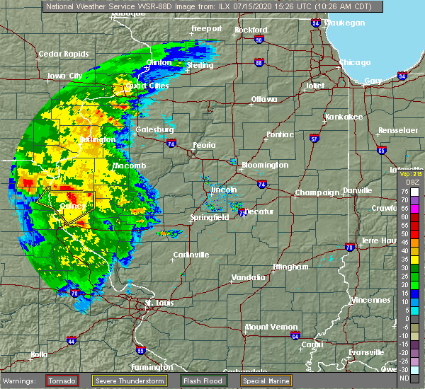 Radar Image for Severe Thunderstorms near Coatsburg, IL at 7/15/2020 10:30 AM CDT