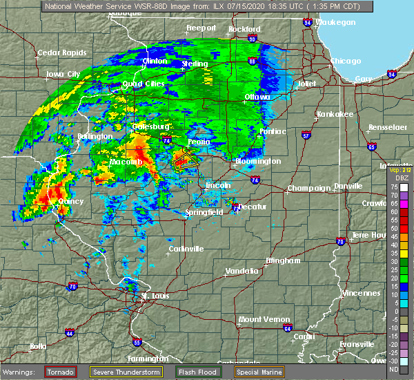 Radar Image for Severe Thunderstorms near Mapleton, IL at 7/15/2020 1:37 PM CDT