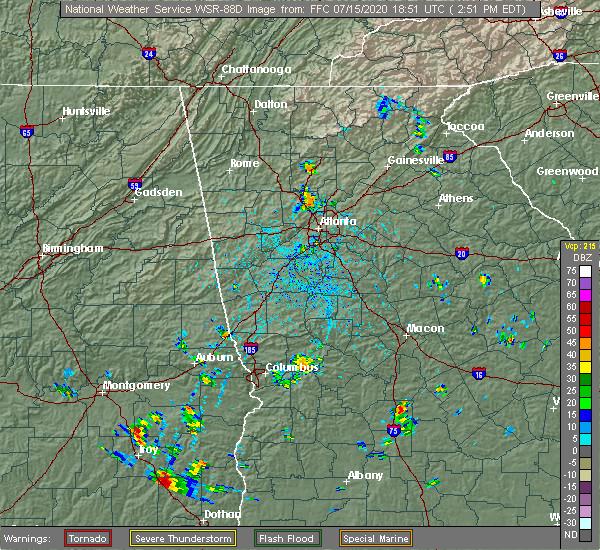 Radar Image for Severe Thunderstorms near Talbotton, GA at 7/15/2020 2:57 PM EDT