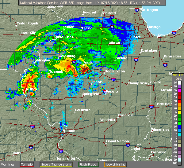 Radar Image for Severe Thunderstorms near Tremont, IL at 7/15/2020 1:59 PM CDT