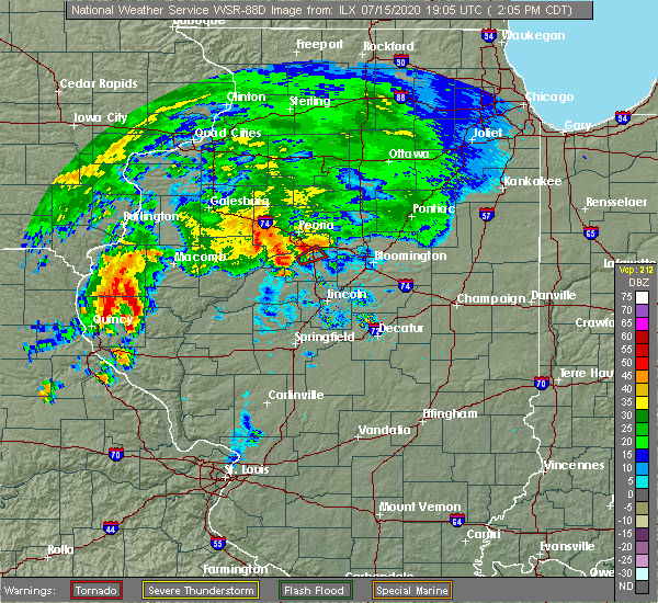 Radar Image for Severe Thunderstorms near Tremont, IL at 7/15/2020 2:08 PM CDT