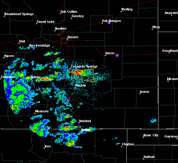 Radar Image for Severe Thunderstorms near Colorado Springs, CO at 7/15/2020 1:57 PM MDT