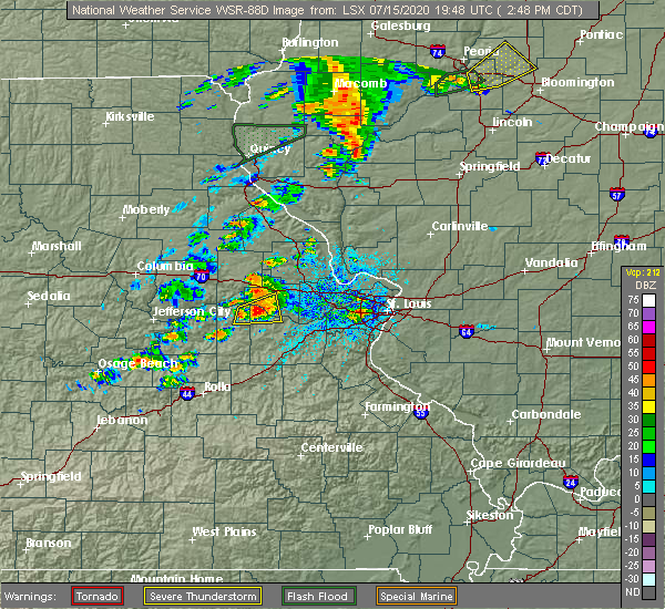 Radar Image for Severe Thunderstorms near Berger, MO at 7/15/2020 2:59 PM CDT