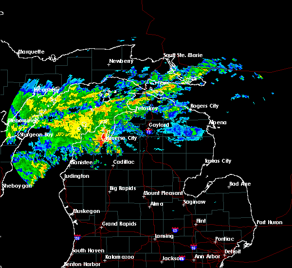 Radar Image for Severe Thunderstorms near South Boardman, MI at 7/15/2020 4:08 PM EDT