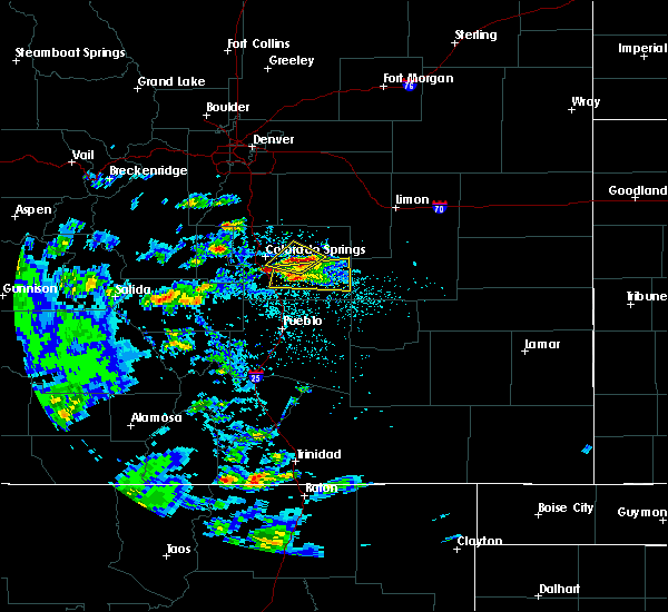 Radar Image for Severe Thunderstorms near Midland, CO at 7/15/2020 2:13 PM MDT