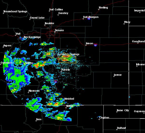 Radar Image for Severe Thunderstorms near Colorado Springs, CO at 7/15/2020 2:19 PM MDT