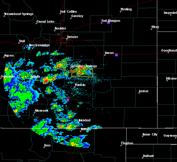 Radar Image for Severe Thunderstorms near Midland, CO at 7/15/2020 2:27 PM MDT