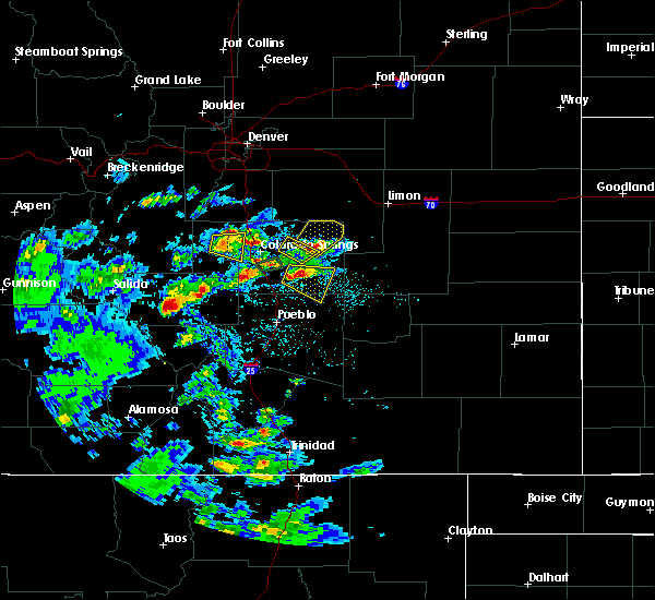 Radar Image for Severe Thunderstorms near Midland, CO at 7/15/2020 2:41 PM MDT